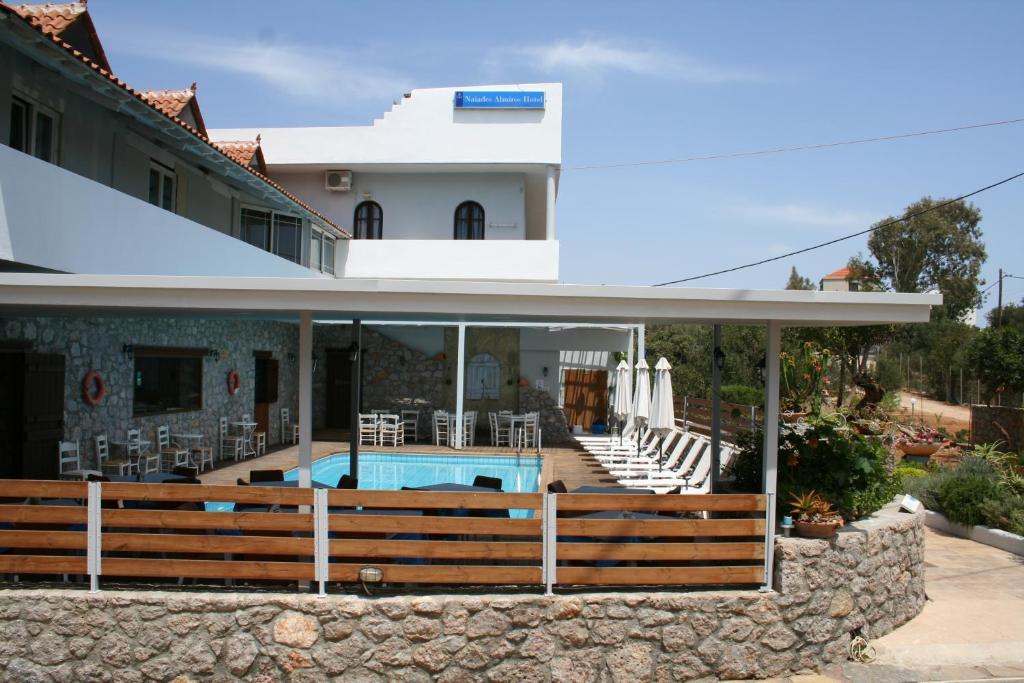 The swimming pool at or close to Naiades Almiros River Hotel