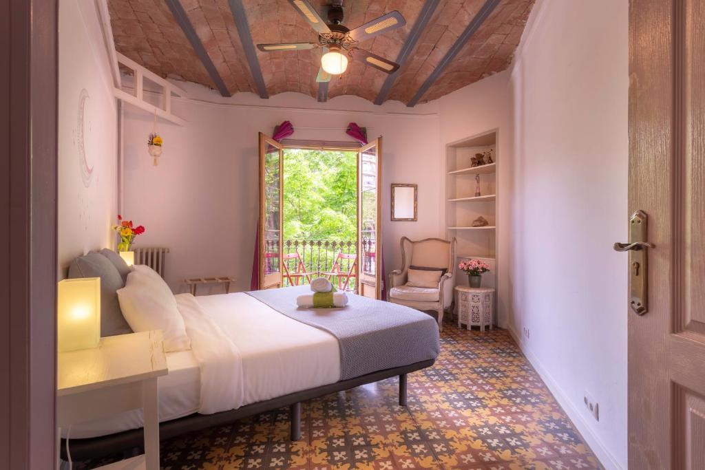 Letto o letti in una camera di Primavera Hostel