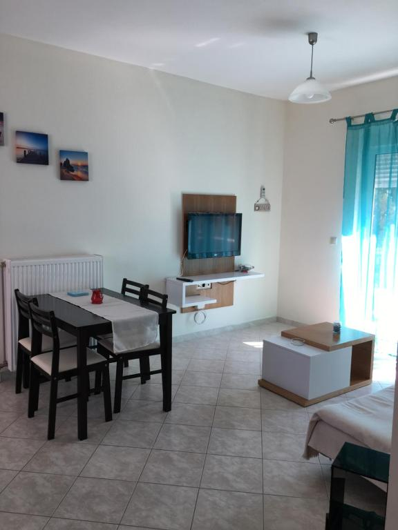 A television and/or entertainment center at Retas apartment