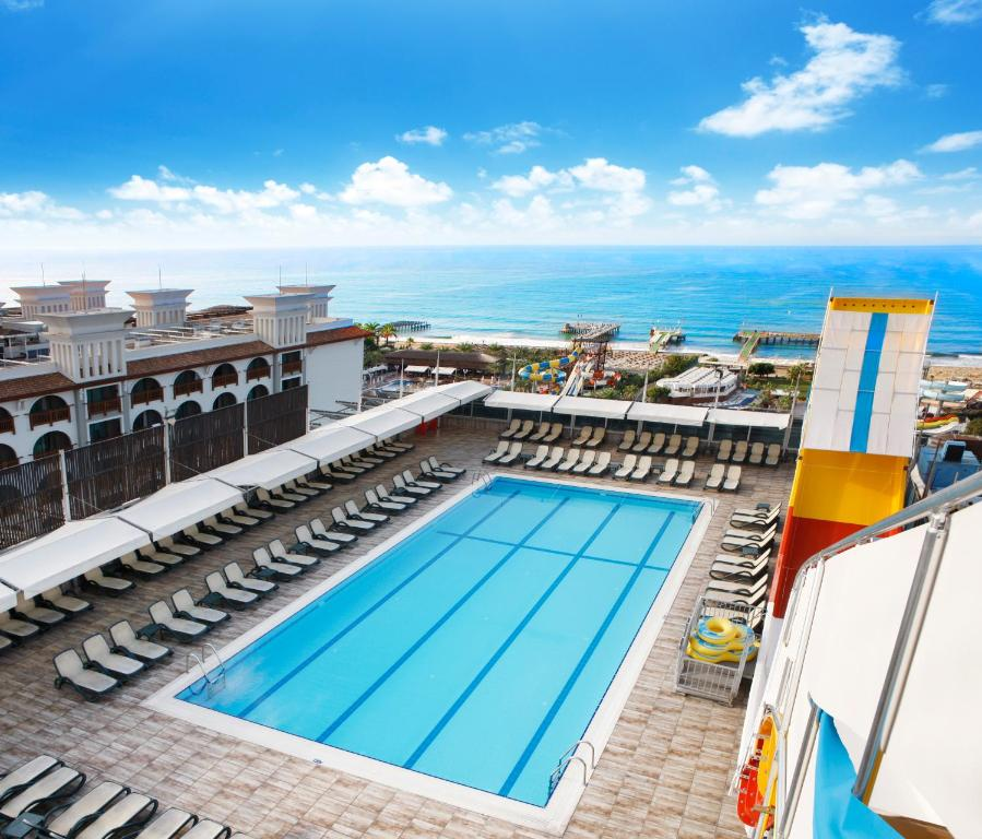 A view of the pool at Bera Alanya Hotel - Halal All Inclusive or nearby