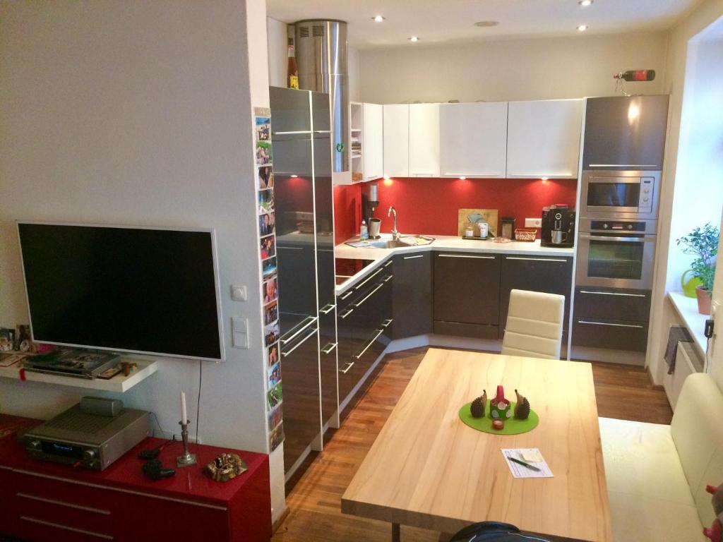 Küche/Küchenzeile in der Unterkunft Heart of INN's Bruck