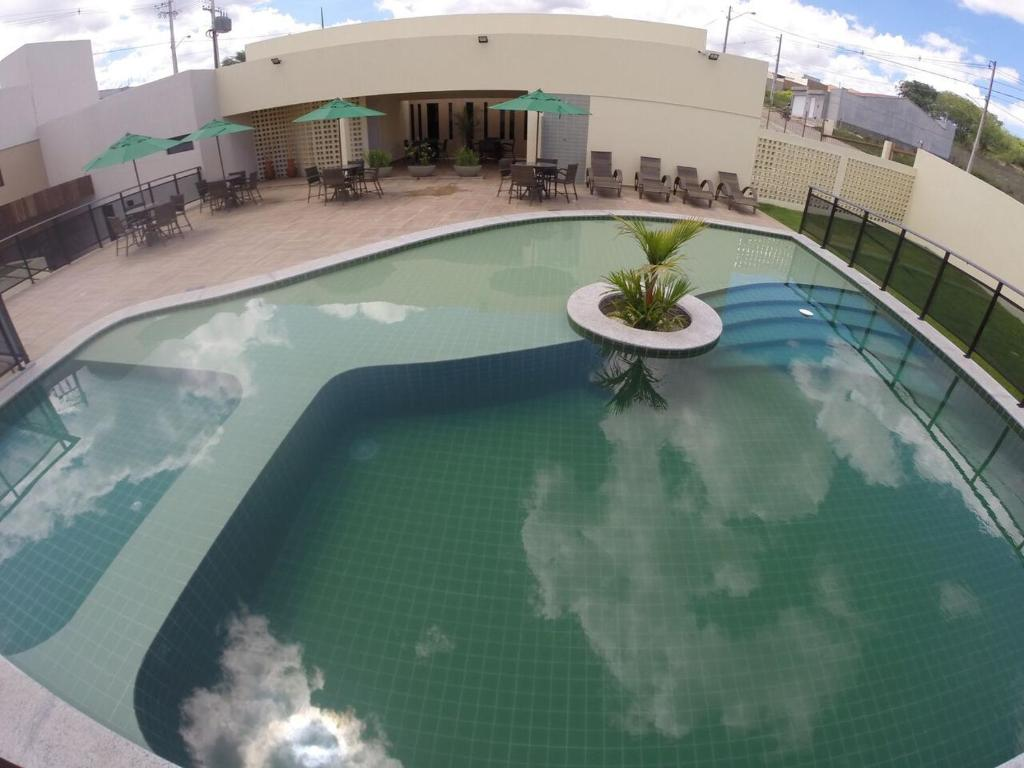 A view of the pool at Hotel Privillege or nearby