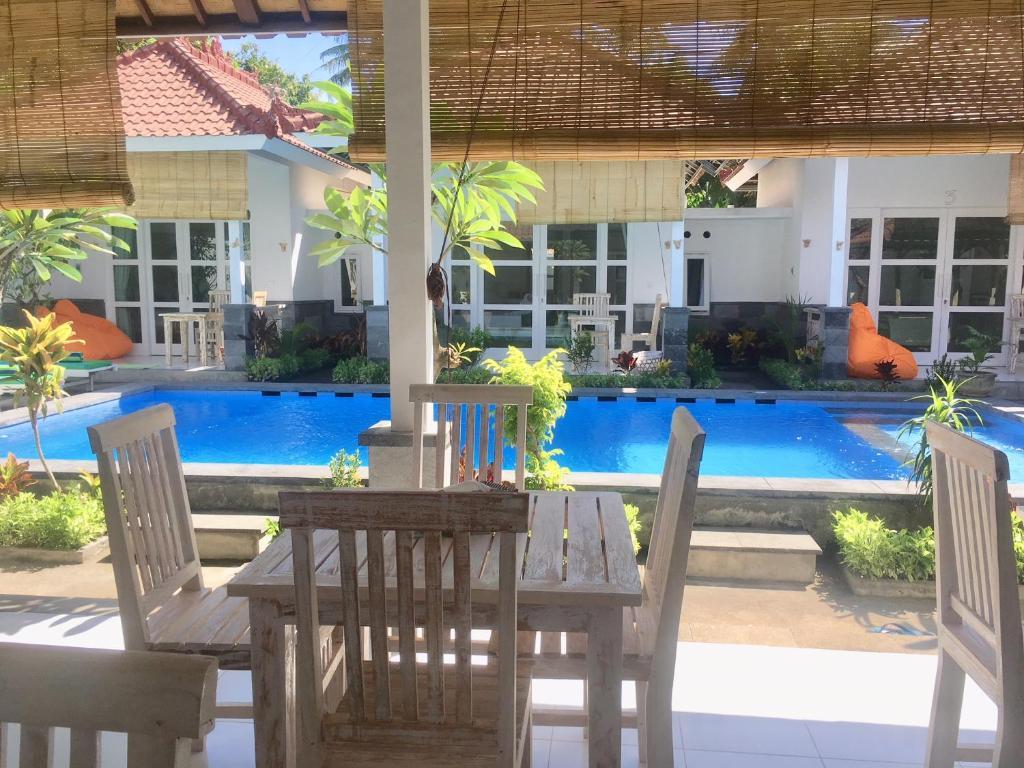 The swimming pool at or near Narayana Homestay