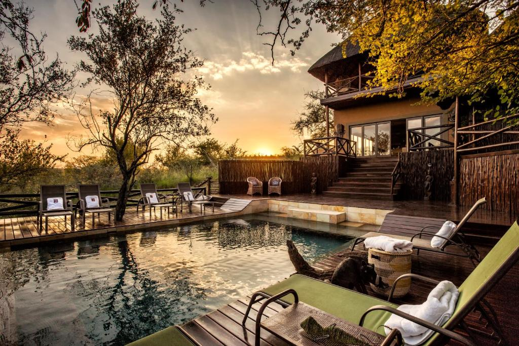 The swimming pool at or near Naledi Bushlodge