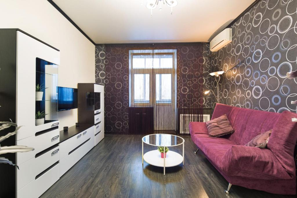 Гостиная зона в MosApts 2 near Moscow City - 2 rooms