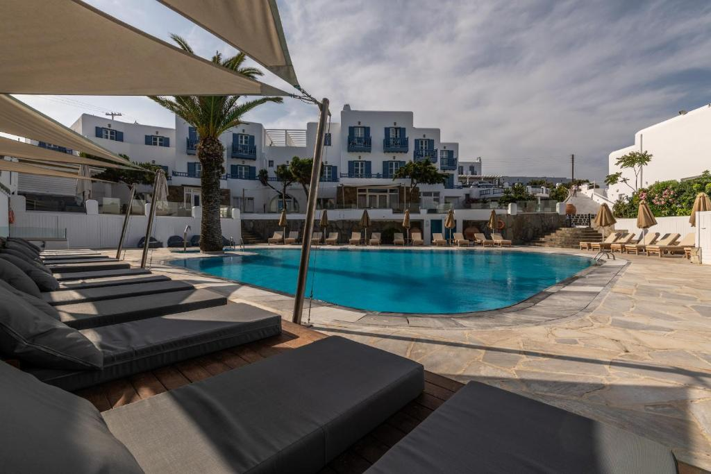 The swimming pool at or near Poseidon Hotel Suites