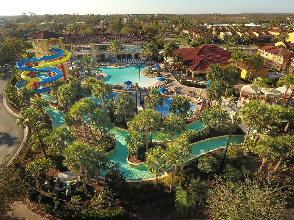A bird's-eye view of Fantasy World Resort