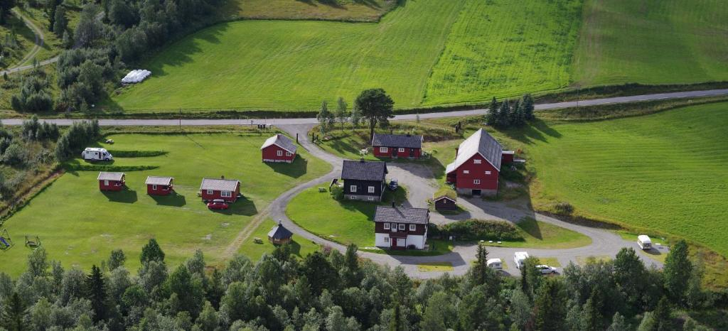 Vista aerea di Skåbu Hytter og Camping