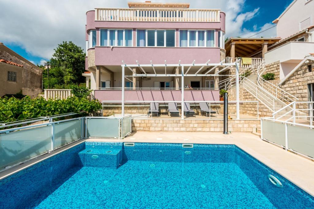 The swimming pool at or close to Villa with a swimming pool