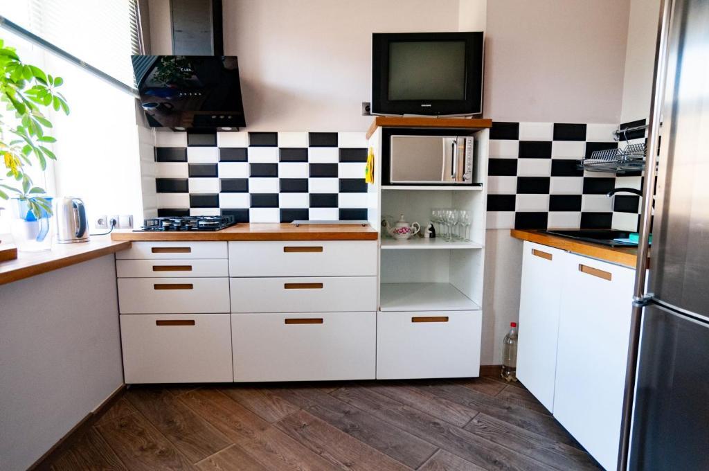 Кухня или мини-кухня в Inter-apart on Sadovaya