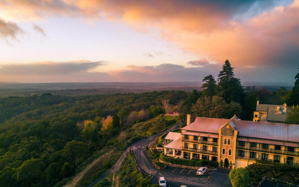 A bird's-eye view of Mount Lofty House