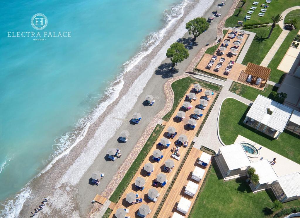 Widok z lotu ptaka na obiekt Electra Palace Rhodes - Premium All Inclusive