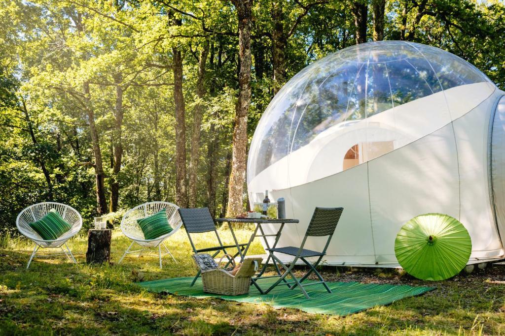 Jardin de l'établissement Somn'en bulle