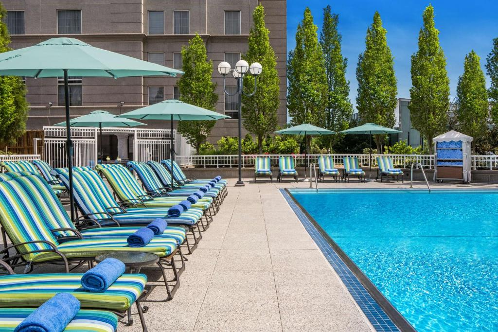 The swimming pool at or near Grand Hyatt Atlanta in Buckhead