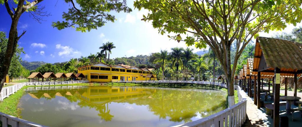 The swimming pool at or near Pousada carvalho