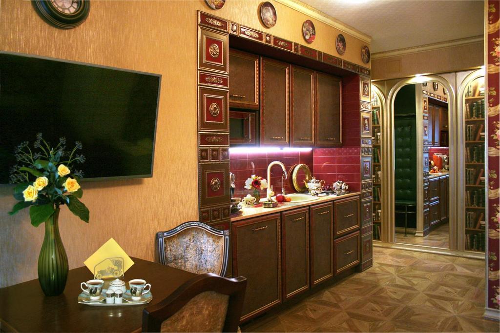 Кухня или мини-кухня в Мини-отель Капитель