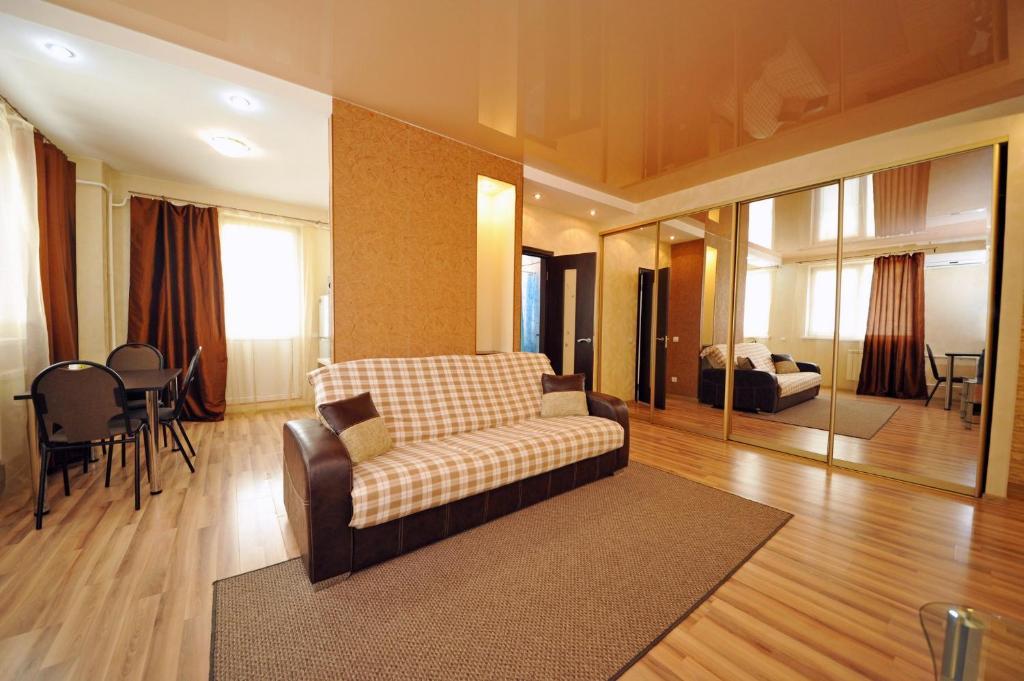 Гостиная зона в Апартаменты на Новороссийской