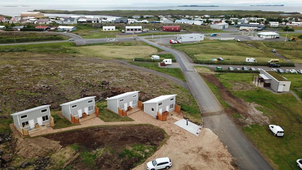 Letecký snímek ubytování Vatnsás 10