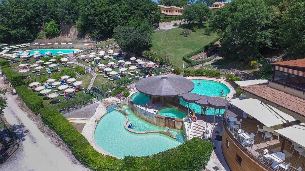 A view of the pool at Residence Terme Di Sorano or nearby