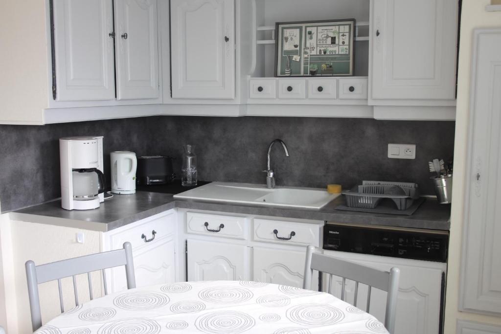 Cuisine ou kitchenette dans l'établissement La Goélette