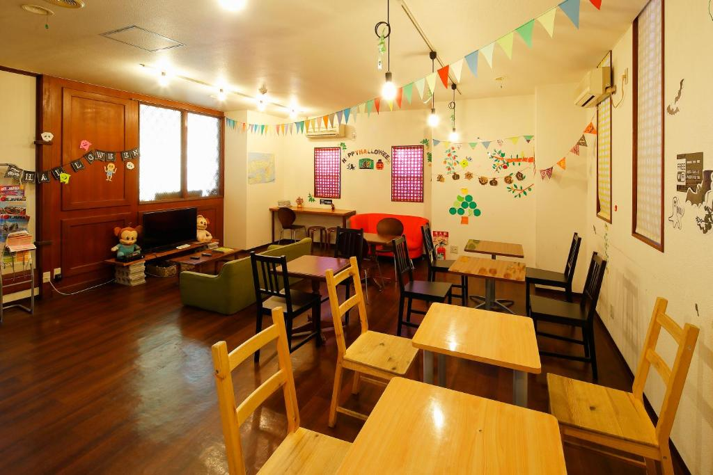 A restaurant or other place to eat at Business Hotel Taiyo