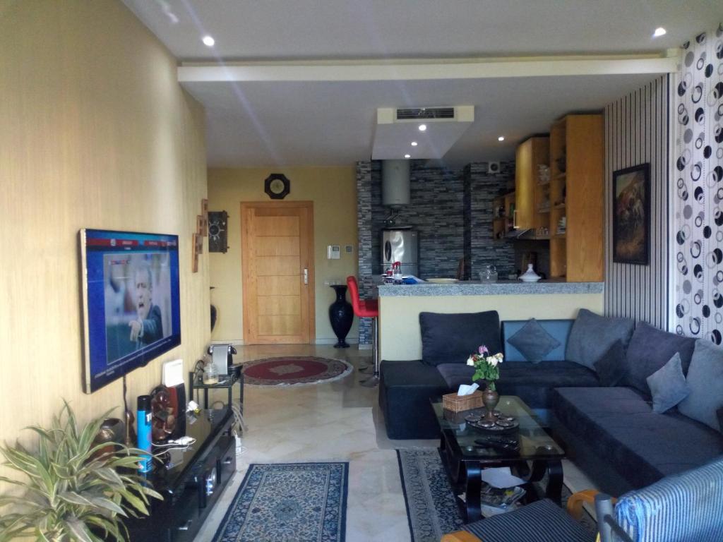 Area soggiorno di Suite Meublée à Nouaceur