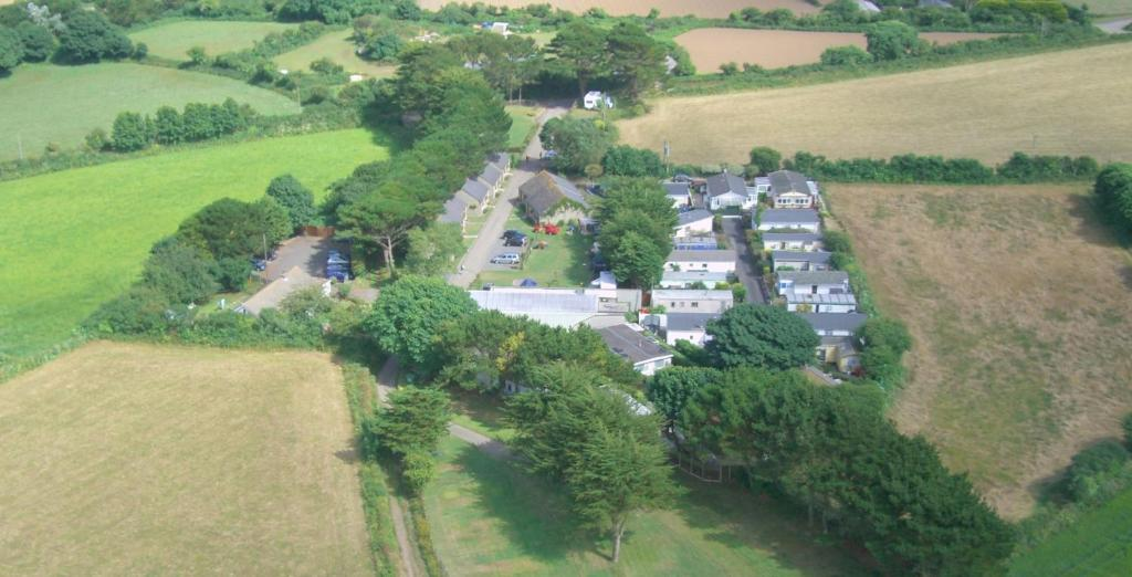 A bird's-eye view of Wheal Rodney Holiday Park