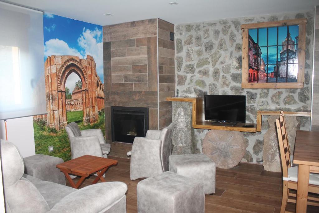 Zona de estar de Apartamentos Numancia
