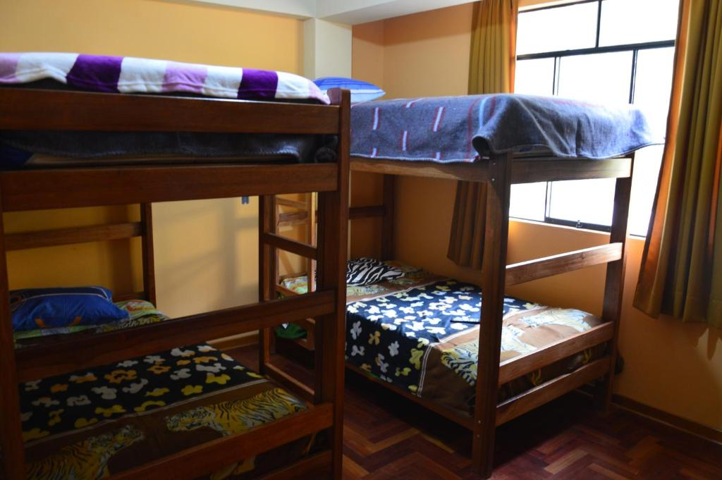 A bunk bed or bunk beds in a room at Sleep And Summit
