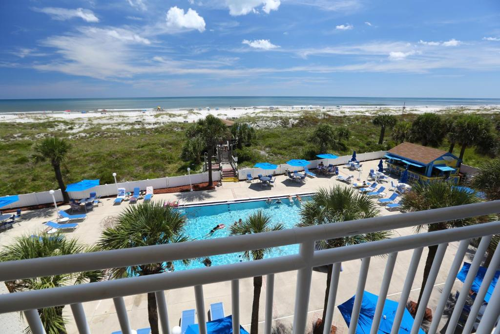 A view of the pool at Guy Harvey Resort on Saint Augustine Beach or nearby