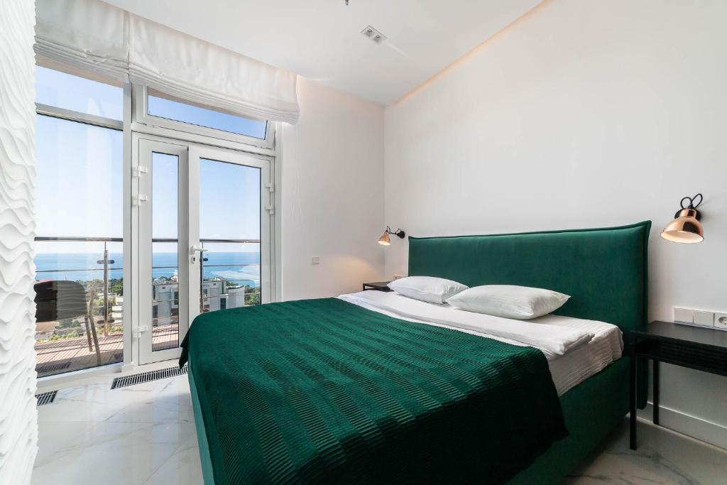 Кровать или кровати в номере Apartments Barcelona-Park