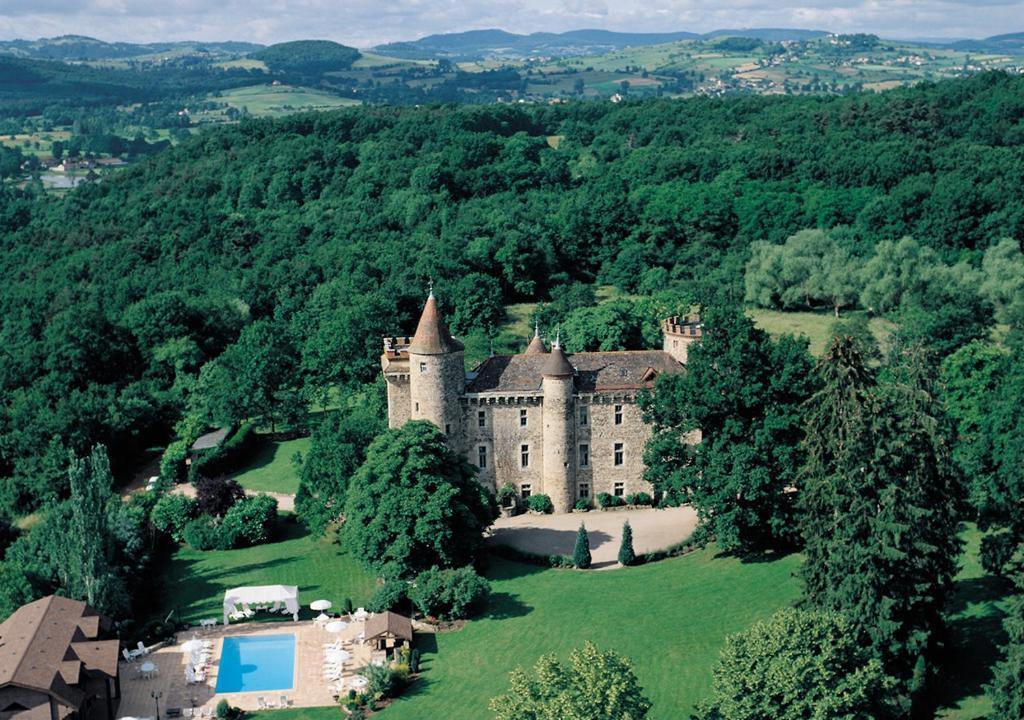 A bird's-eye view of Chateau de Codignat - Relais & Châteaux