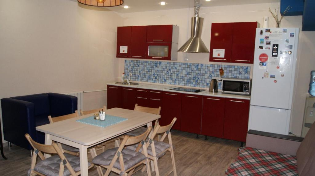 A kitchen or kitchenette at Foxhole Hostel