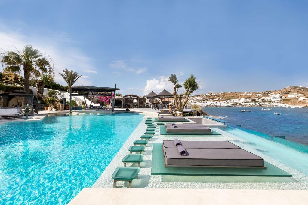 The swimming pool at or near Kivotos Mykonos