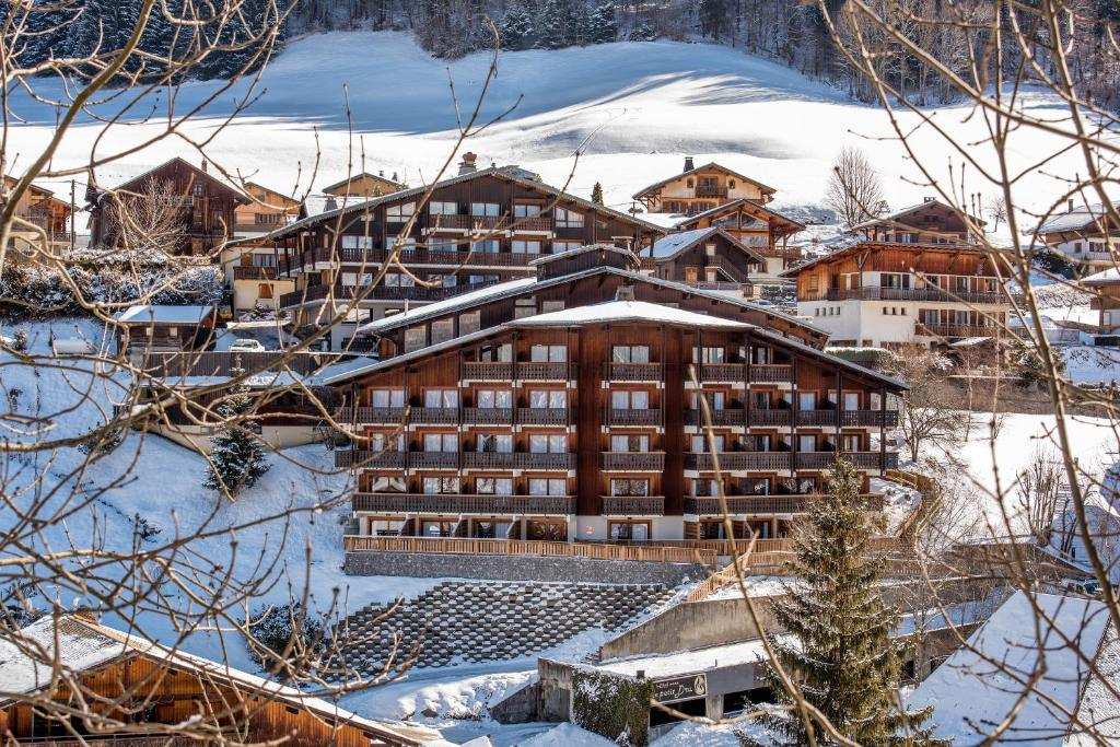 Hotel le Petit Dru during the winter
