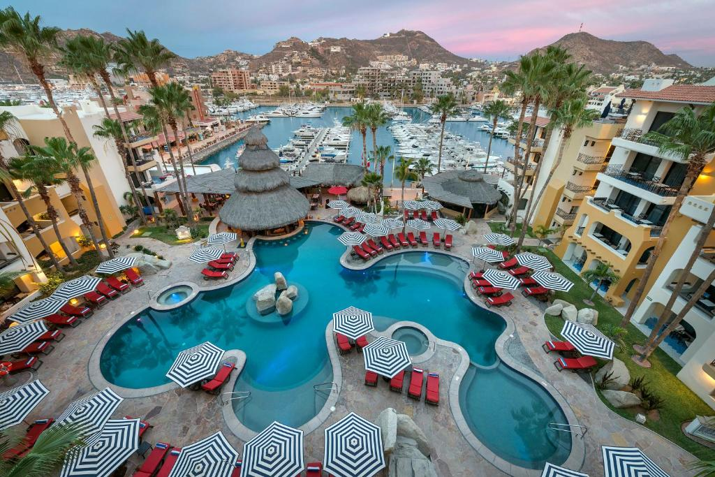 A view of the pool at Marina Fiesta Resort & Spa, A La Carte All Inclusive Optional or nearby