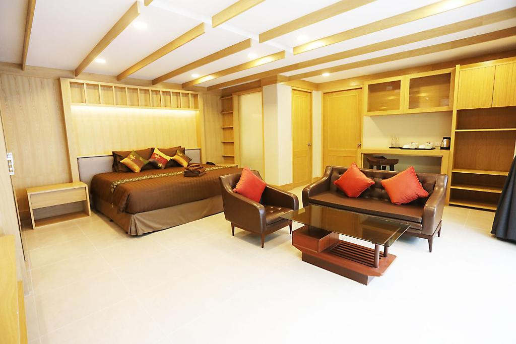A seating area at Hua Hin White Sand