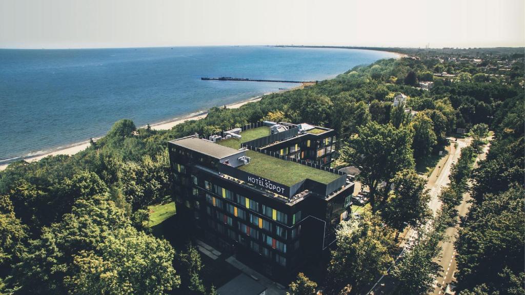 A bird's-eye view of Hotel Sopot