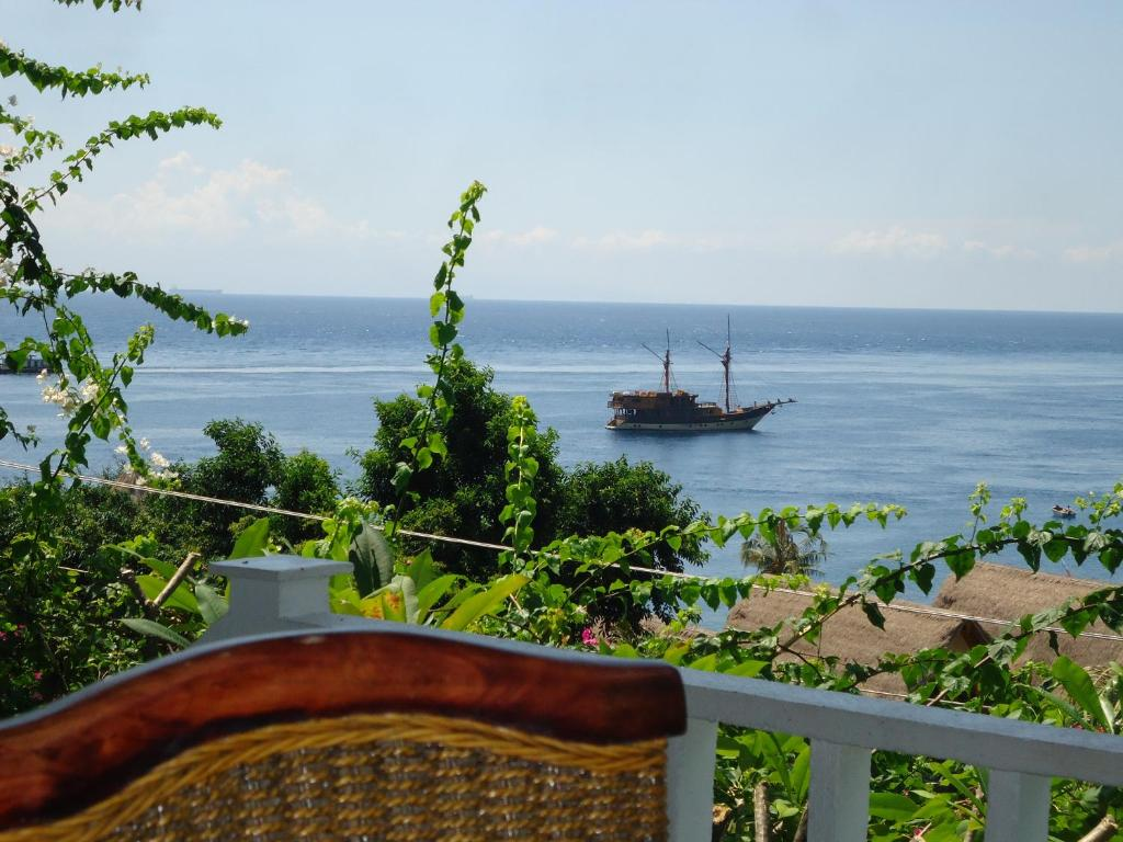 A general sea view or a sea view taken from the resort village