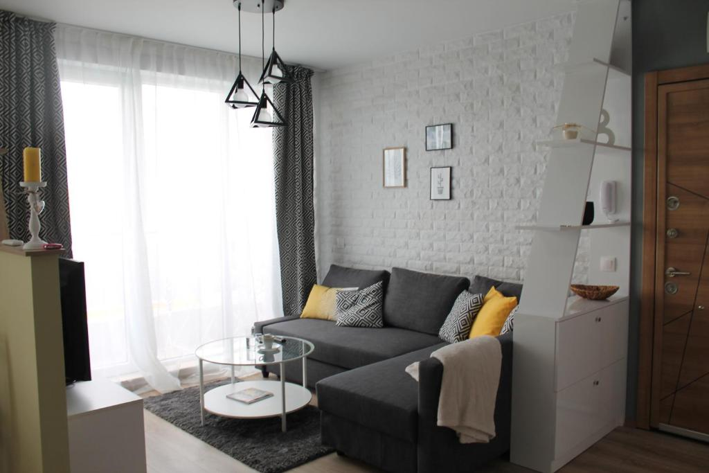 A seating area at AirLuxApartament