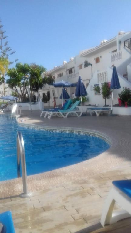 The swimming pool at or near Los Cristianos Port Royale