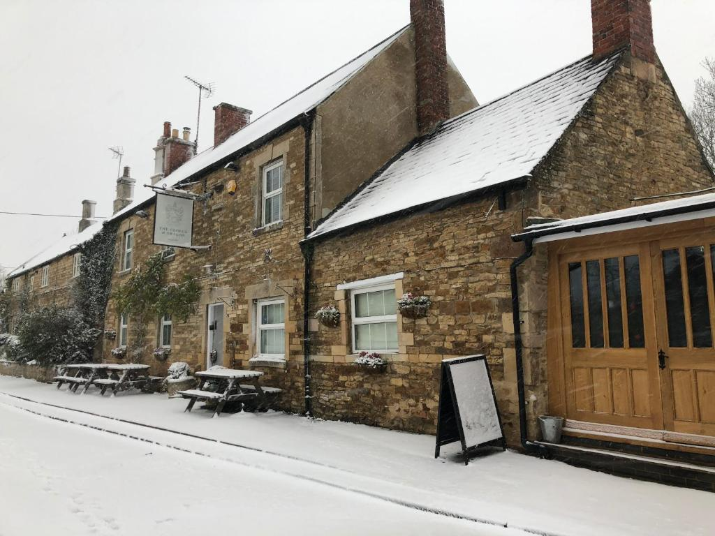 The George & Dragon Country Inn during the winter
