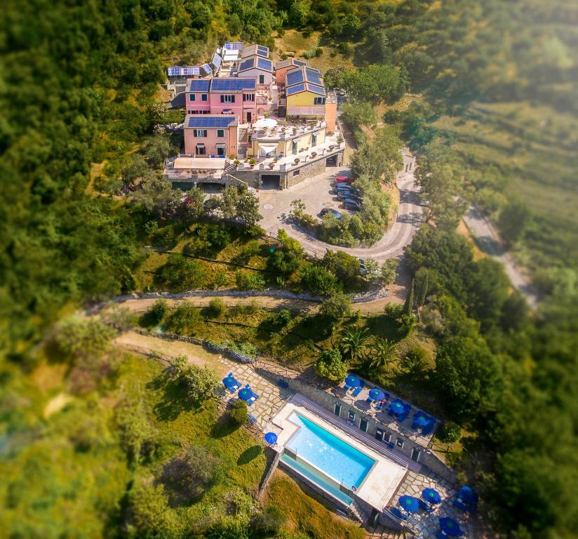 Een luchtfoto van Hotel Al Terra Di Mare