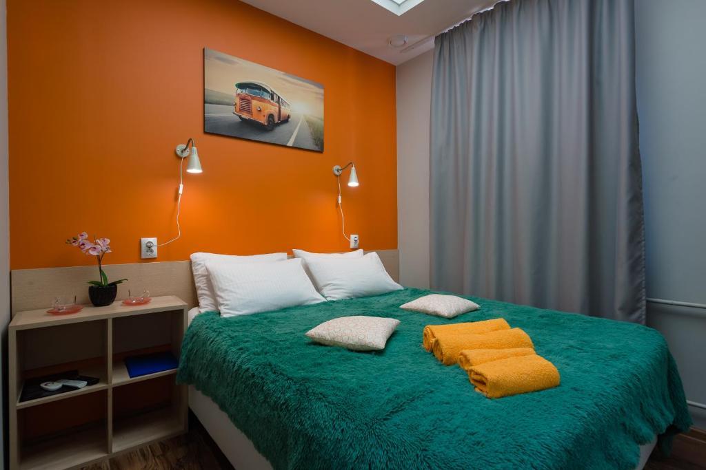 Кровать или кровати в номере Хостел Кислород O2
