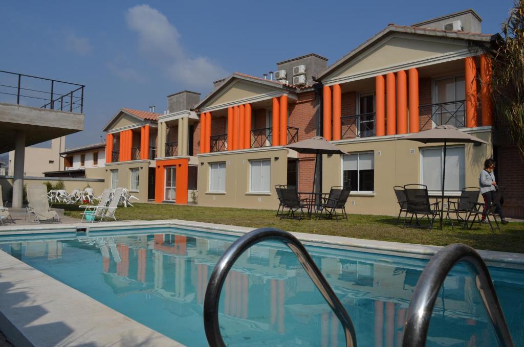 The swimming pool at or near Los Perales
