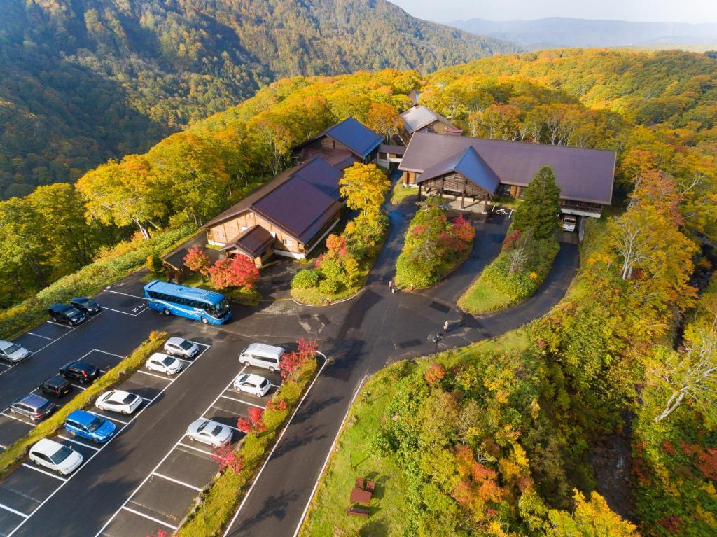 Een luchtfoto van Hakkoda Hotel