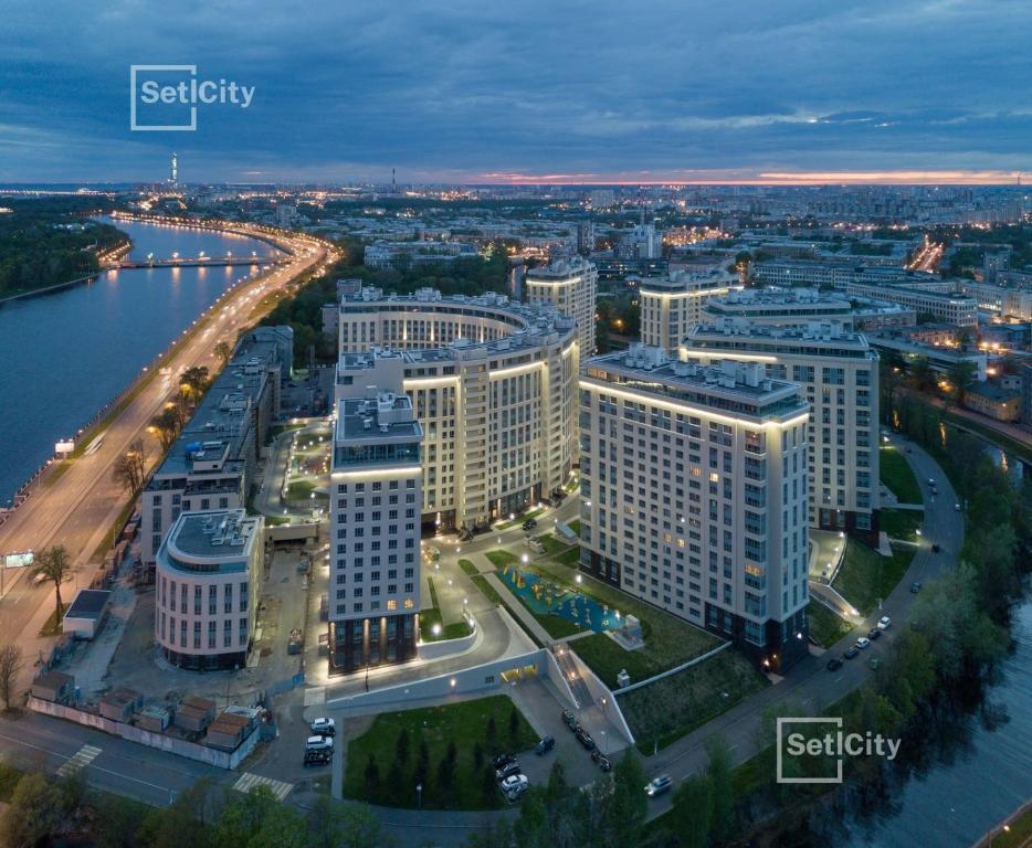 Business Apartment on Chernaya reka с высоты птичьего полета