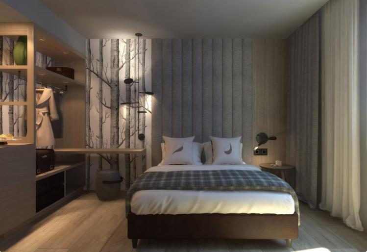 A bed or beds in a room at Ròseo Euroterme Wellness Resort