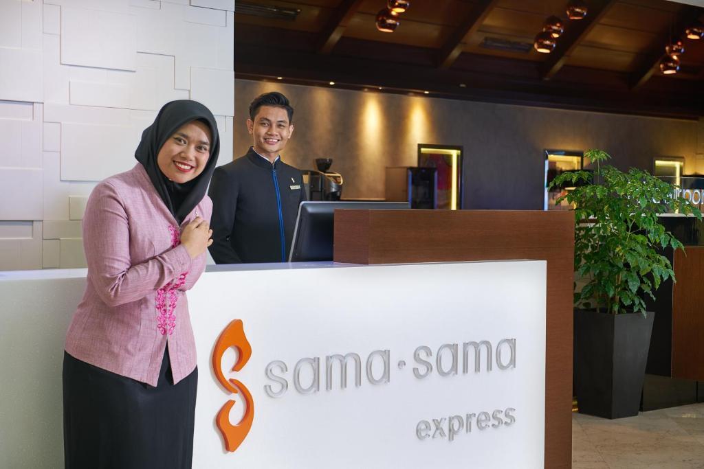 The lobby or reception area at Sama Sama Express KLIA (Airside Transit Hotel)