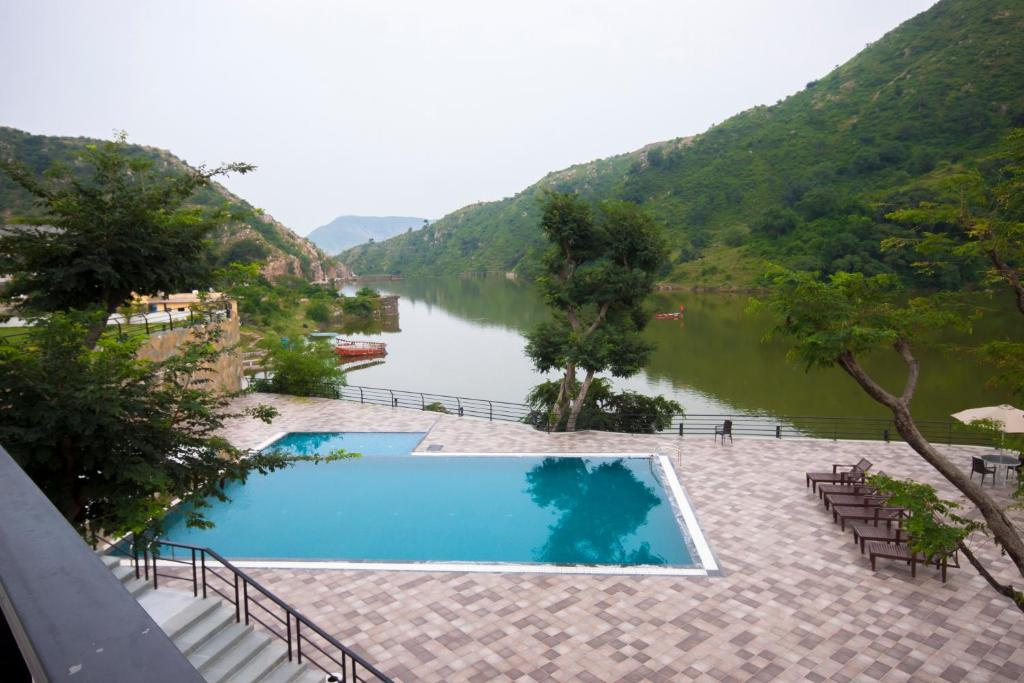 A view of the pool at Via Lakhela Resort & Spa or nearby